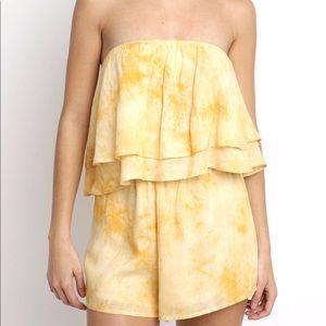 Yellow Tie-Dye Romper